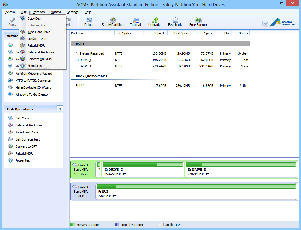 aomei partition assistant for windows 8 64 bit