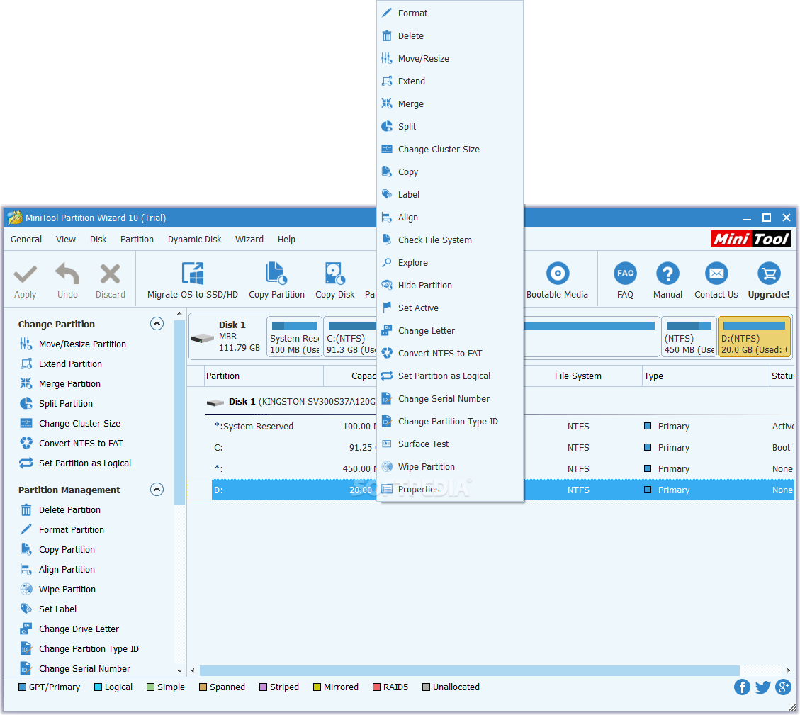 TÉLÉCHARGER MINITOOL PARTITION WIZARD 9.1