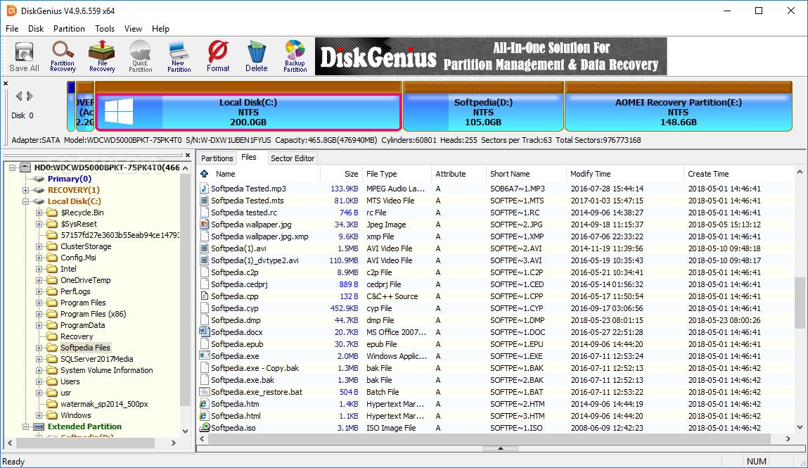 Resultado de imagen para DiskGenius 5