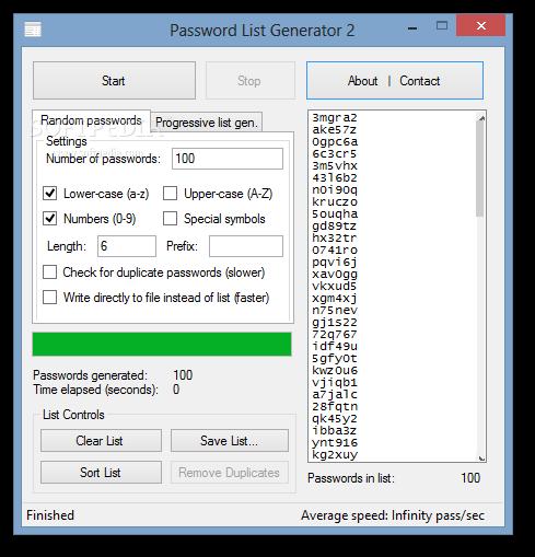 Download Password List Generator 2 0 0