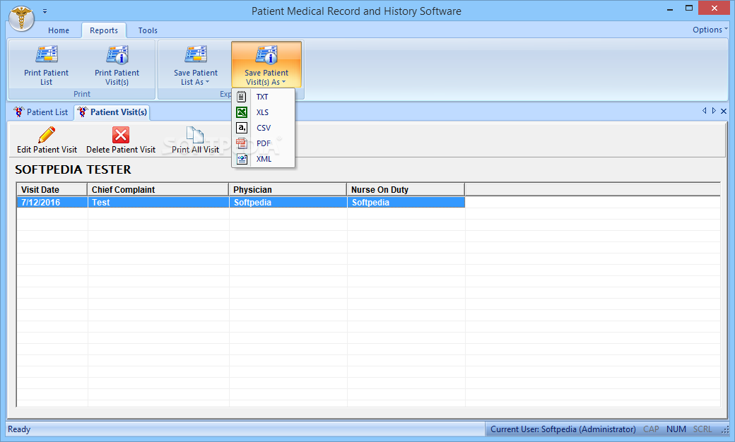 Download Patient Medical Record and History Software 7 0 0 118