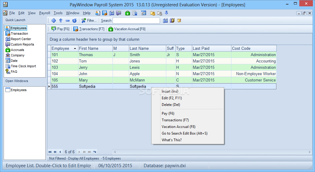 Download Paywindow Payroll System 2019 17 0 14