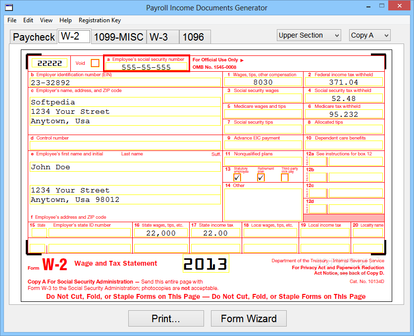 Download Payroll Income Documents Generator 4 1 0 0