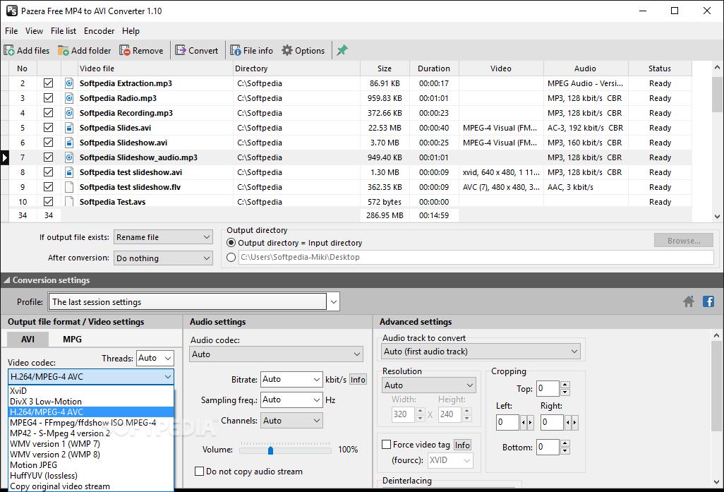pazera free mp4 to avi converter 1.3