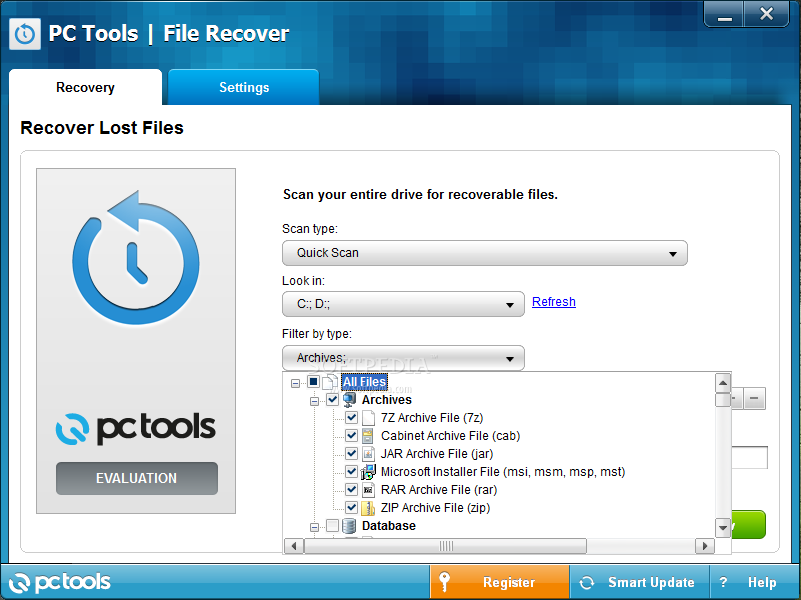 PC Tools File Recover 2013