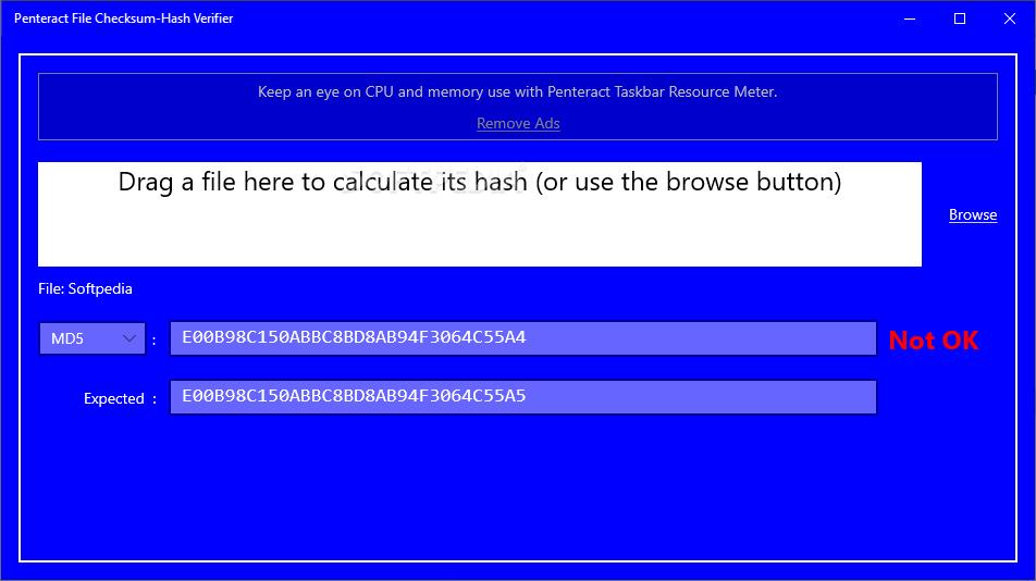 Penteract File Checksum-Hash Verifier screenshot #0