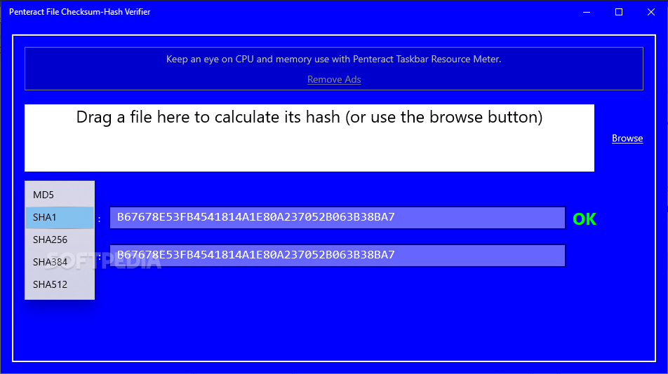 Penteract File Checksum-Hash Verifier screenshot #1