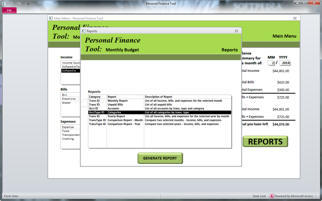 download personal finance tool monthly budget 2 0