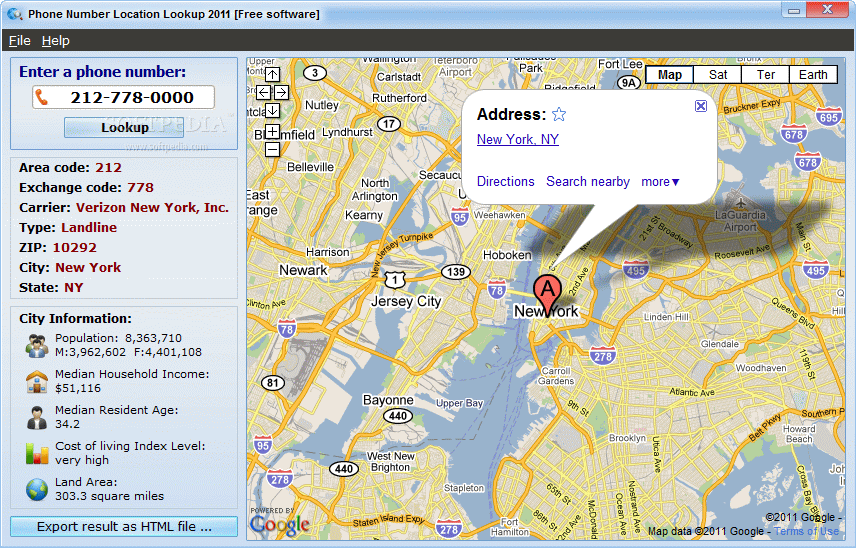 Download Phone Number Location Lookup - Find location of phone number on map