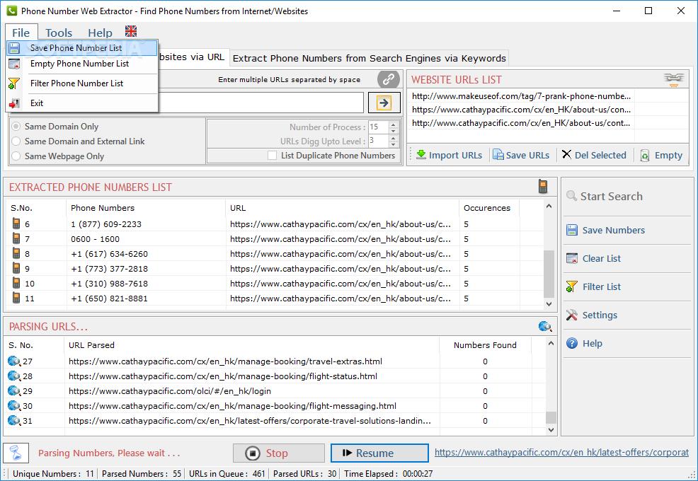 Download Phone Number Web Extractor 4.4.1.29