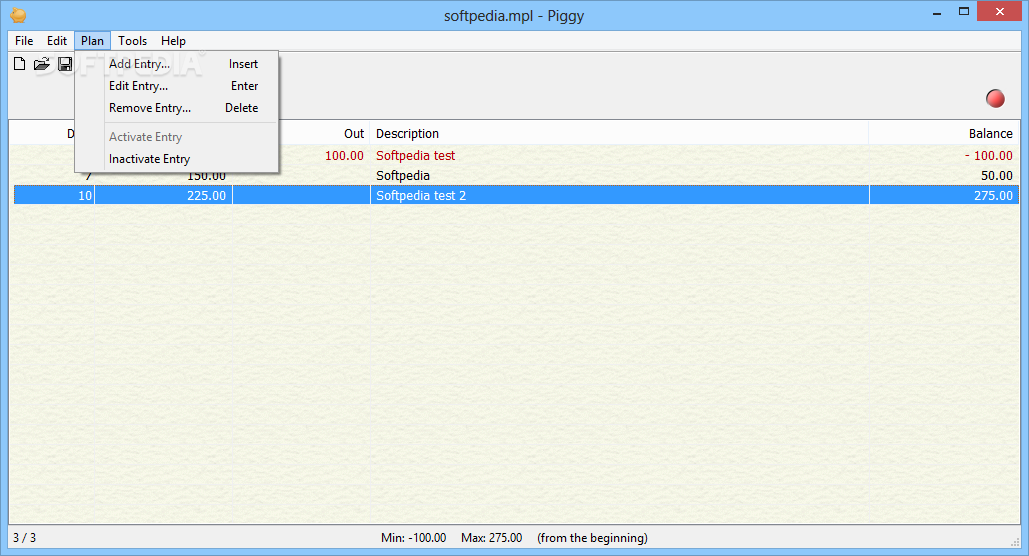 Piggy screenshot 3 - You can change the font used for listing all your planned transactions from the Preferences window.