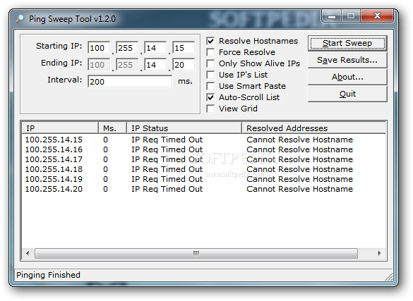Download Ping Sweep Tool 1 2 0