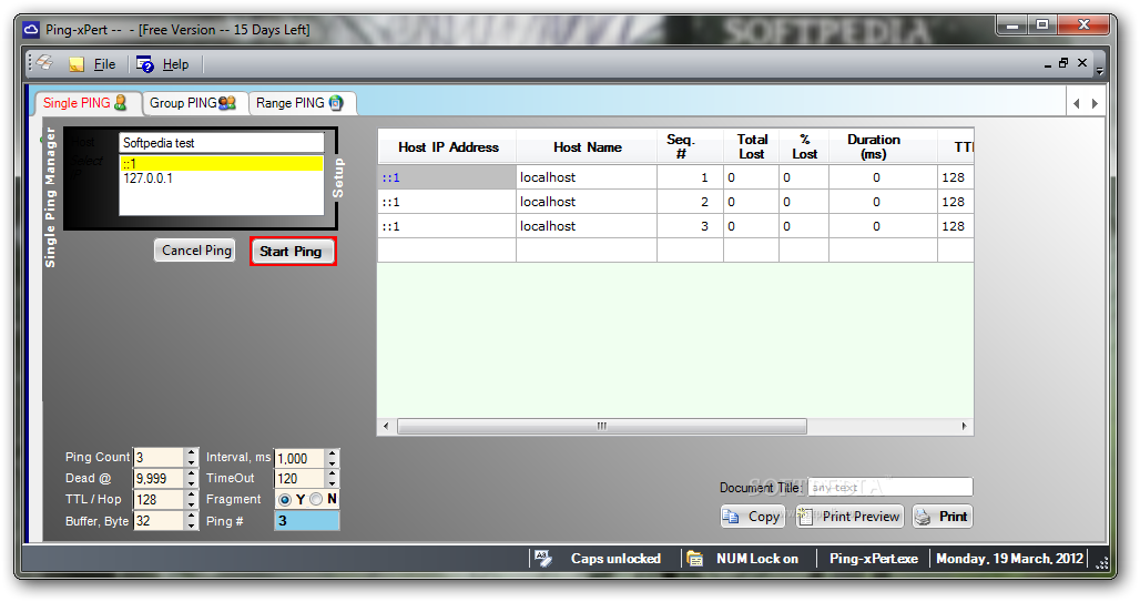 Ping-xPert screenshot 1