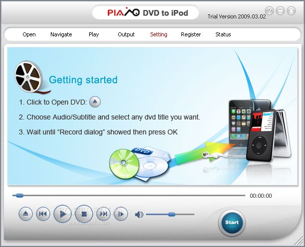 Plato DVD to iPod Converter Main Window - Plato Global ...