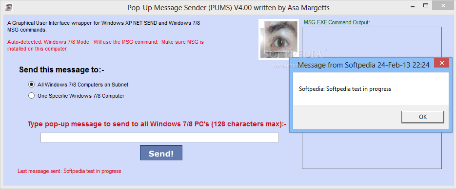 download pop up message sender 400