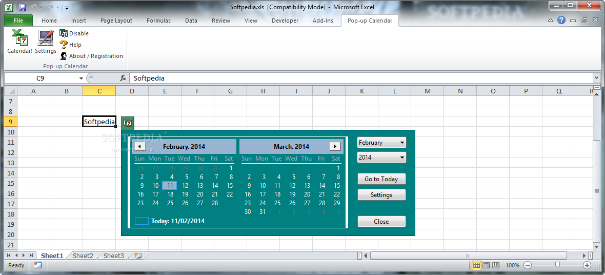 download pop up excel calendar 212