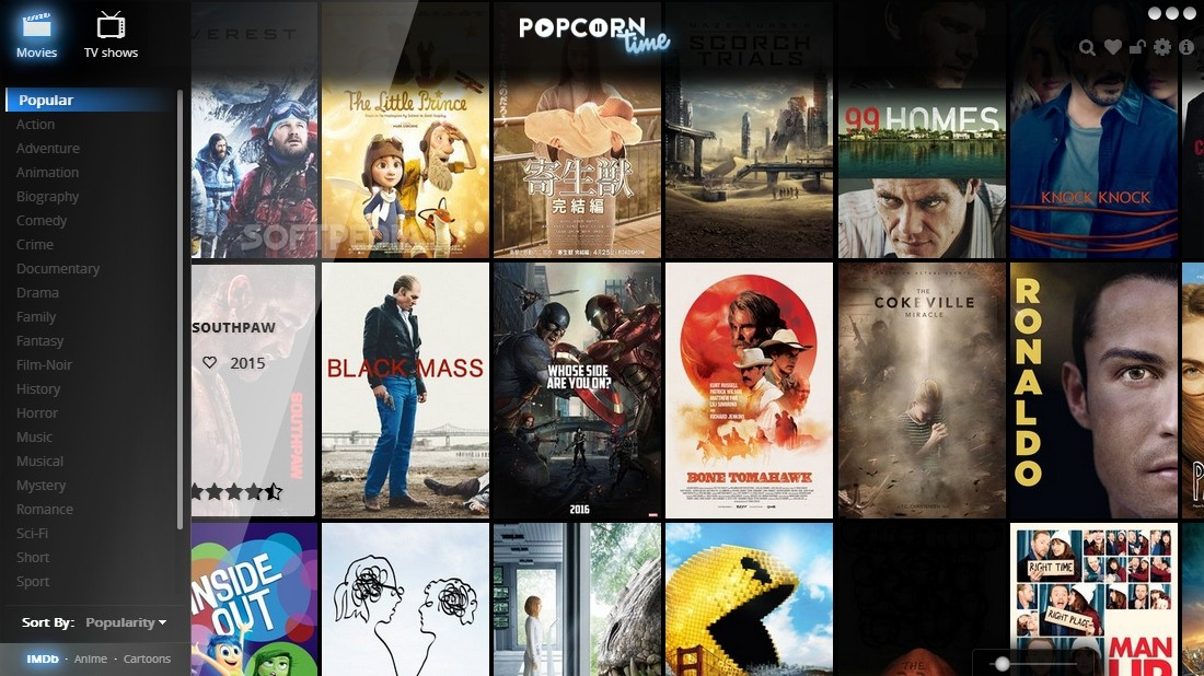 popcorn time download free for windows xp