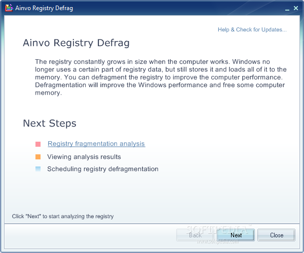 auslogics registry defrag portable