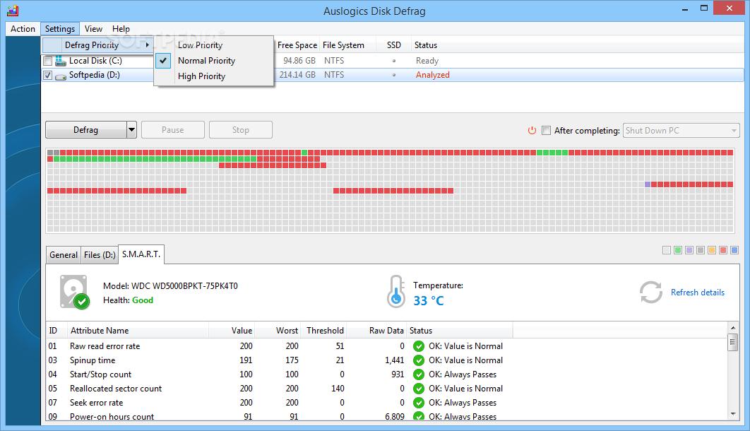 auslogics disk defrag free malware