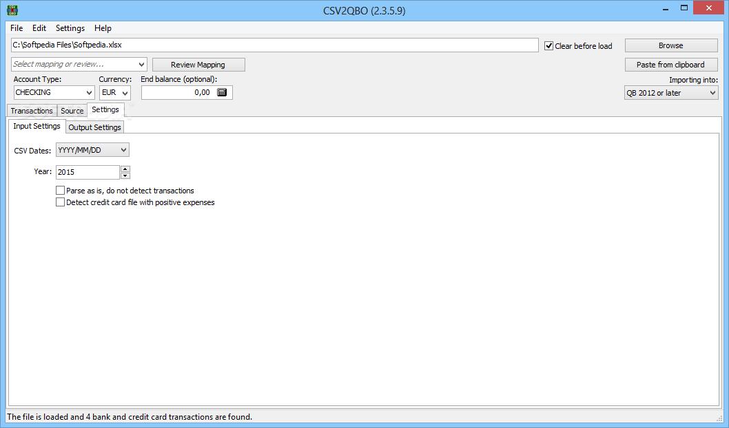 Download Portable CSV2QBO 3 6 119 0