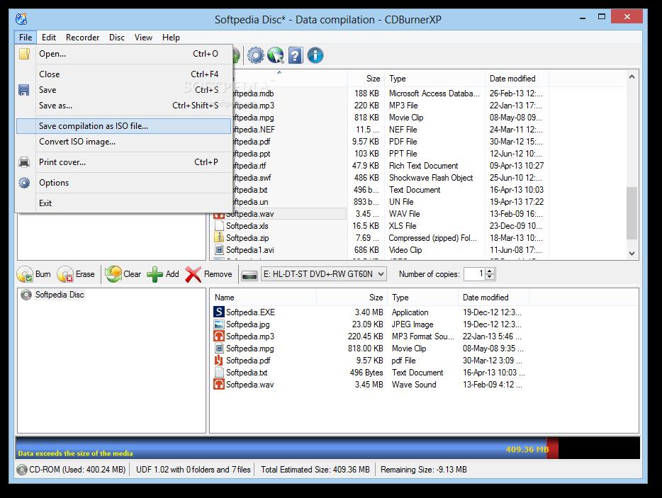 Download Portable CDBurnerXP 4 5 8 7042
