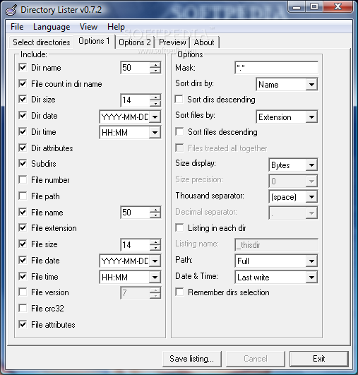 Download Portable Directory Lister 0 7 2