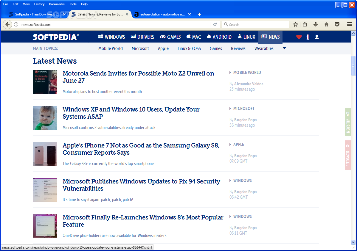 Firefox 65.0 (64-bit) Product Preview for Windows 10
