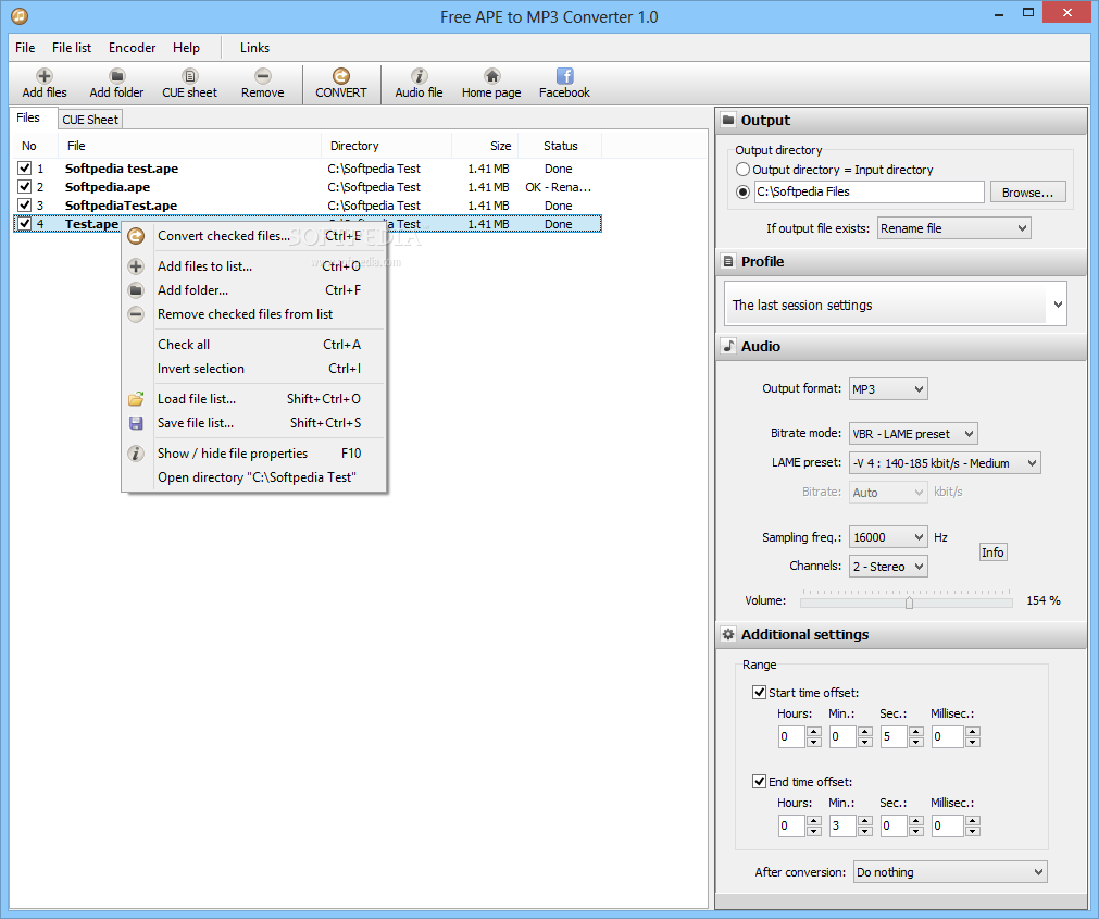 Download Portable Free APE to MP3 Converter 1 0