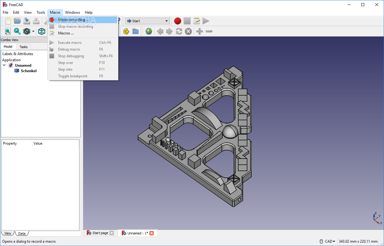 Download Portable FreeCAD 0 18 3 Revision 16131 / 0 19 17513 Dev