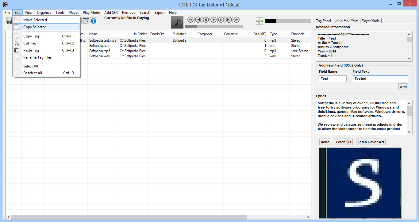 Download Portable IDTE - ID3 Tag Editor 2 9 5