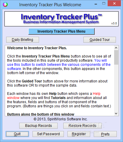 Portable Inventory Tracker Plus Download