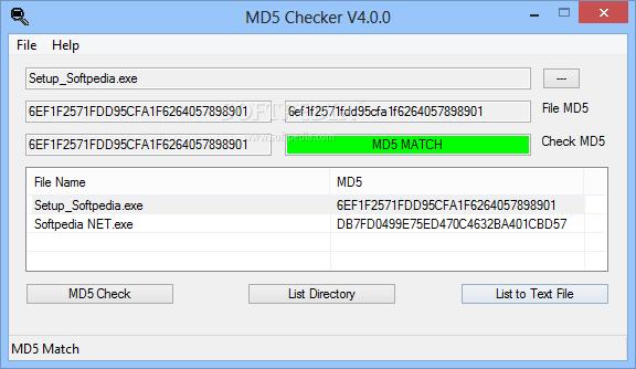 Download Portable MD5 Checker 4 0 0
