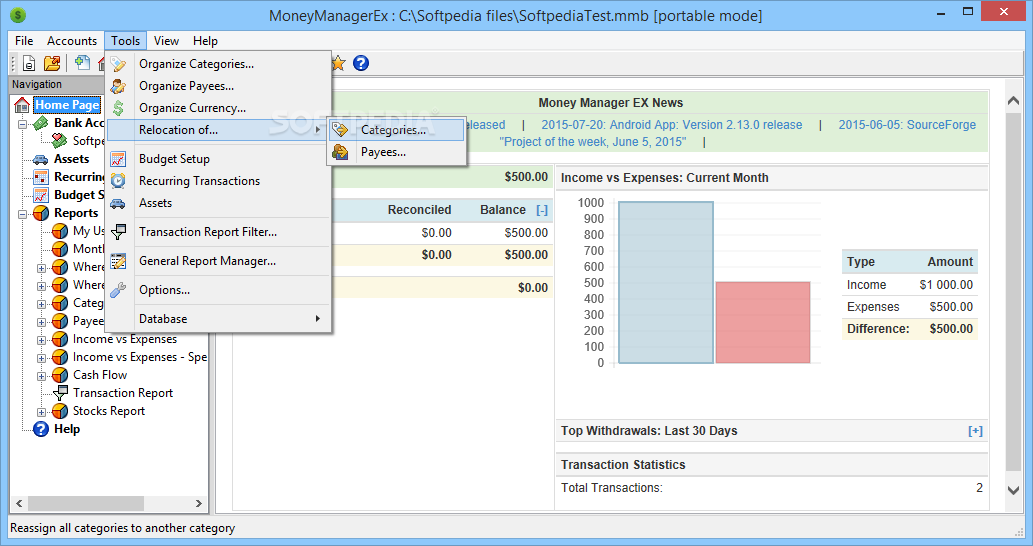 money manager ex 0.9.9.0 pour windows