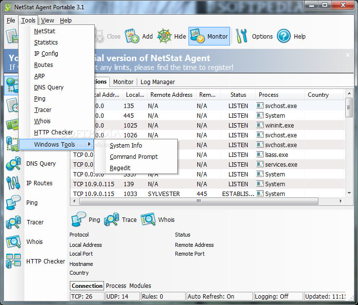 Download Portable NetStat Agent 3 6