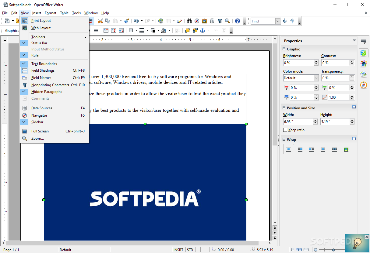 open office writer free download for windows xp