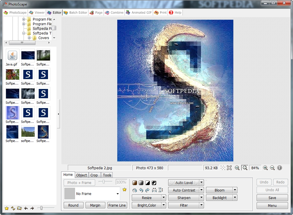 Features of the Photo Editing Software PhotoScape