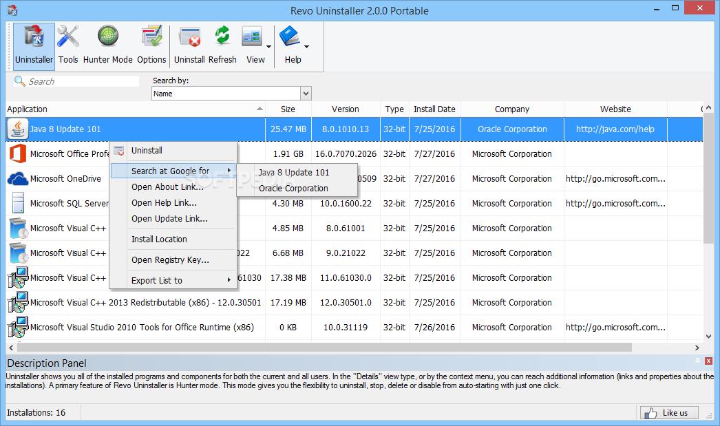 Download Revo Uninstaller Portable 2 1 0