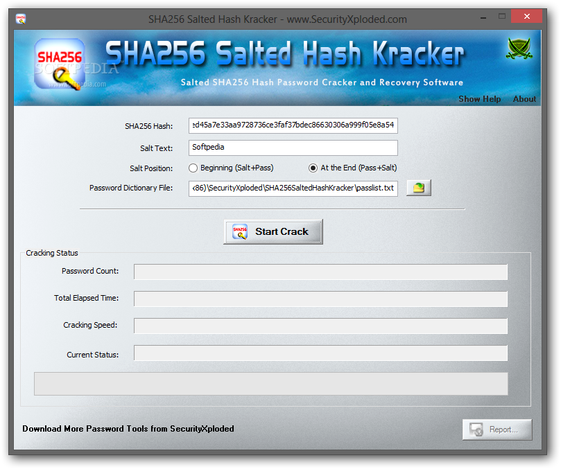 Download Portable SHA256 Salted Hash Kracker 1 6