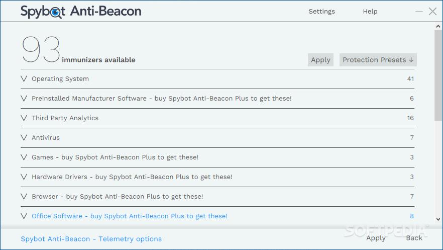 destroy windows 10 spying vs spybot anti-beacon