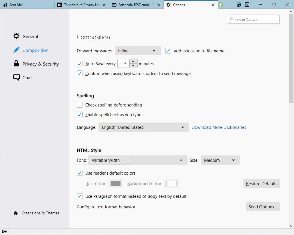 Download Portable Thunderbird 60.9.1 / 68.3.1 RC 1 / 72.0 ...