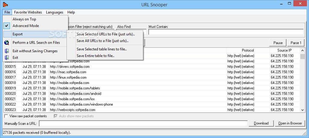 Download Portable URL Snooper 2 42 01