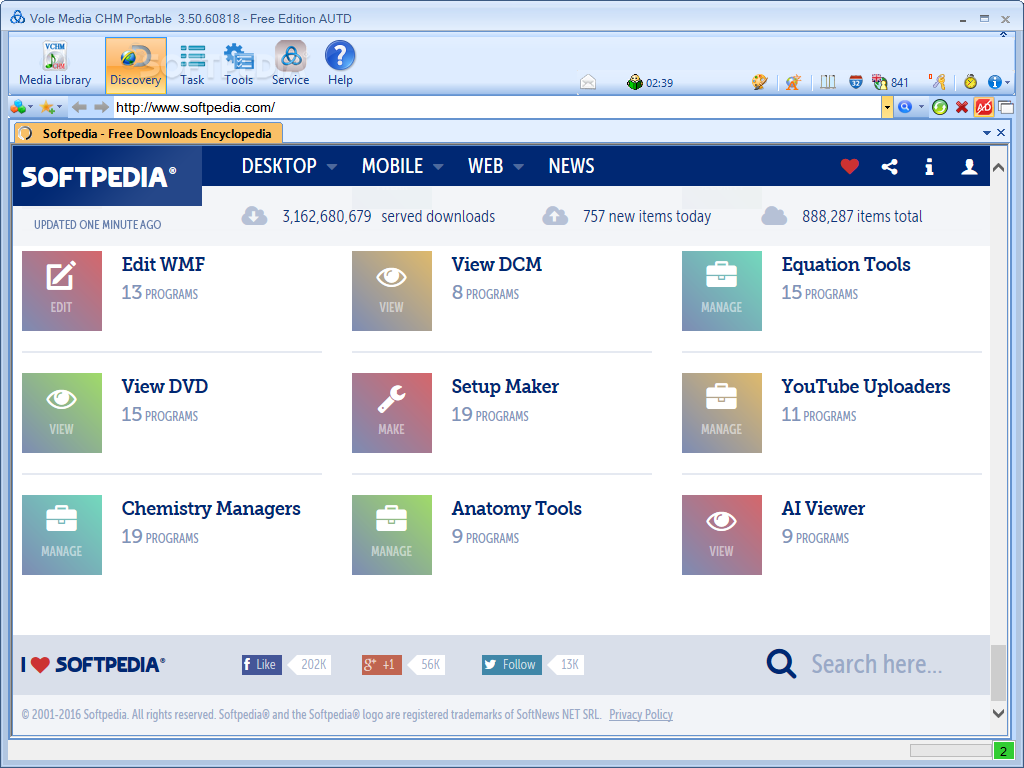 Portable Vole Media CHM Free Edition screenshot 3 - By using Portable Vole Media CHM Free Edition you have the possibility to insert media files such as video files, images or YouTube animations