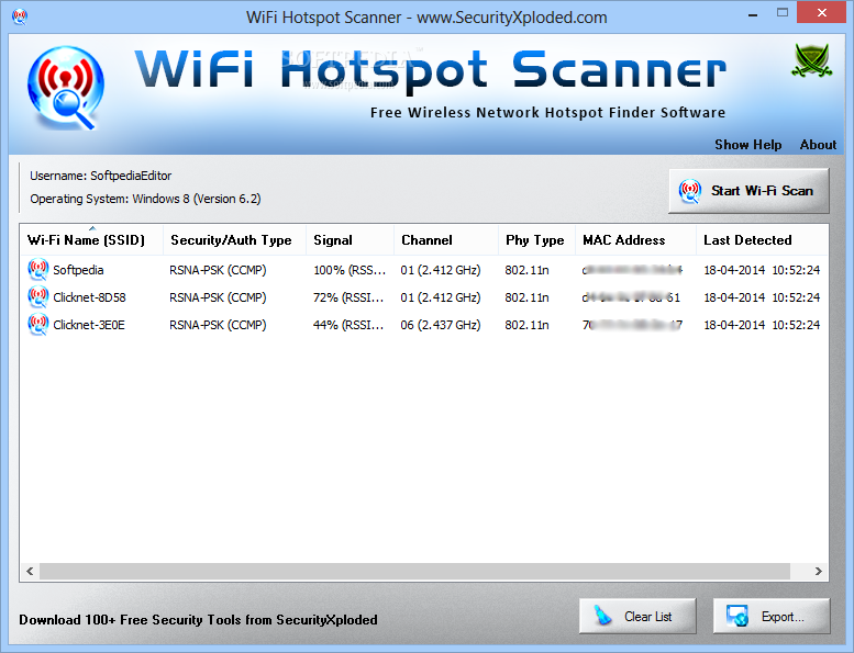 Download Portable WiFi Hotspot Scanner 1 0