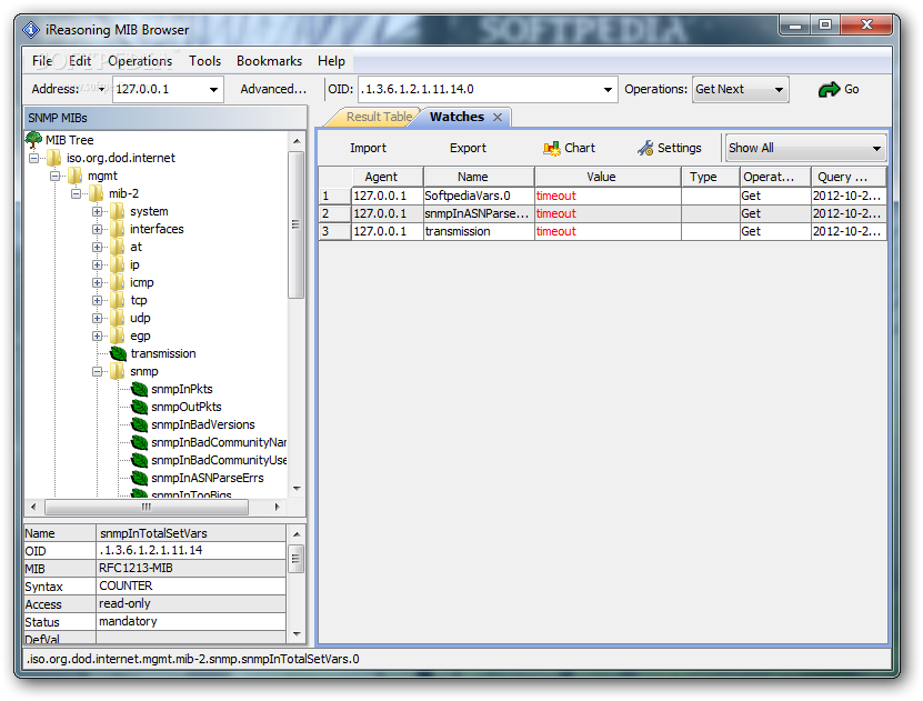 Ireasoning mib browser enterprise edition 7 2 build 2626