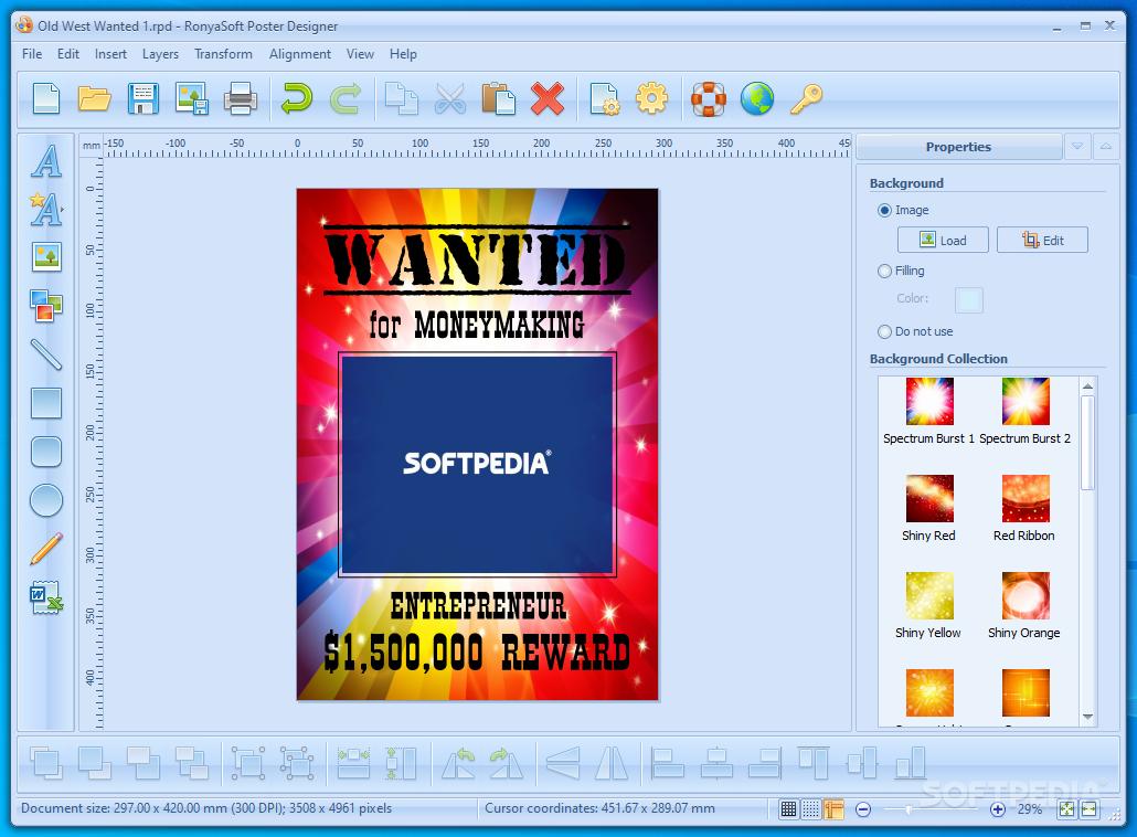 ronyasoft poster designer poster forge