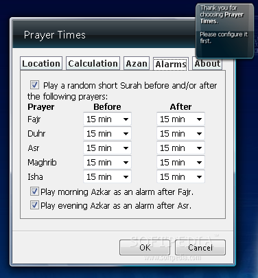 Prayer Times Vista Gadget Screenshots, screen capture - Softpedia