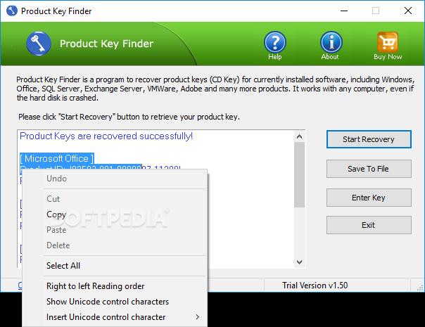 Download Product Key Finder 1 5