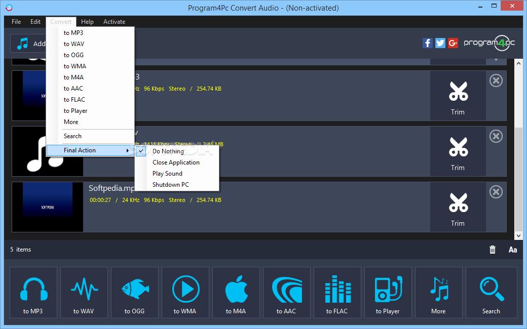 Download Program4Pc Audio Converter Pro 7 2
