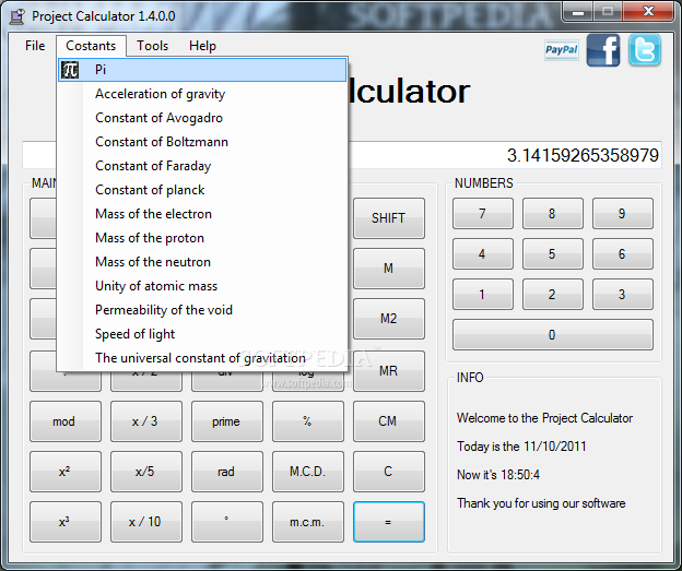 Download Project Calculator 1 4 0 0
