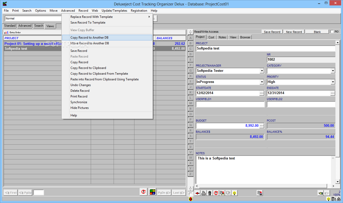 project organizer software